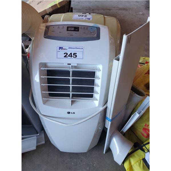 LG PORTABLE AIR CONDITIONING UNIT WITH VENTILATION HOSE AND WINDOW MOUNT