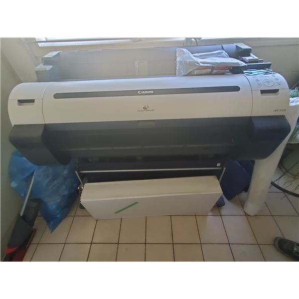 CANON IMAGE PROGRAF MODEL IPF750 LARGE FORMAT PRINTER WITH 1 BOX AND ROLL OF PAPER