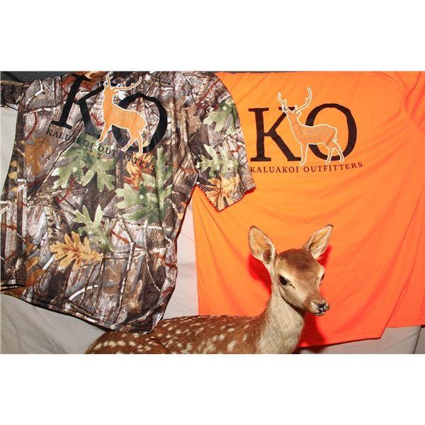 Set of (2) Kaluakoi Outfitters (KO) Dri-Fit Shirts-Camo/Orange