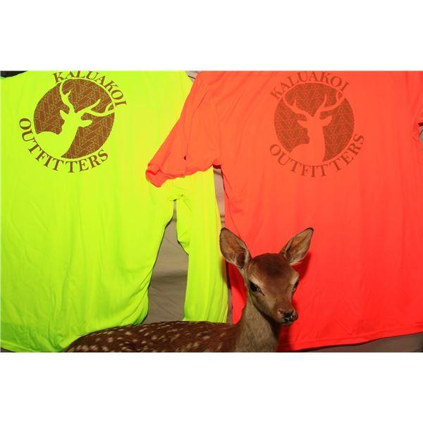 Set of (2) Kaluakoi Outfitters (KO) Dri-Fit Shirts-Green/Orange
