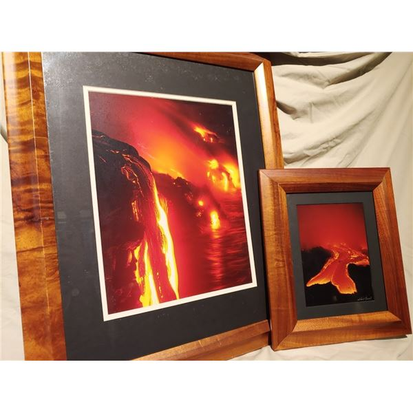 Kilauea Eruption-Set of (2) Framed Photographs