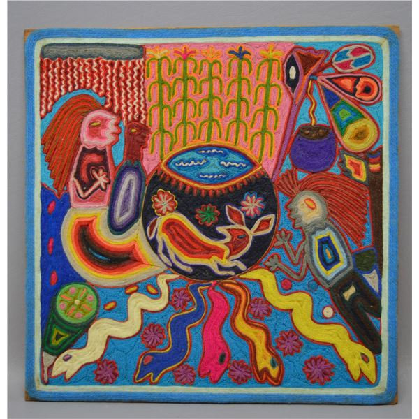 MEXICAN HUICHOL YARN ART