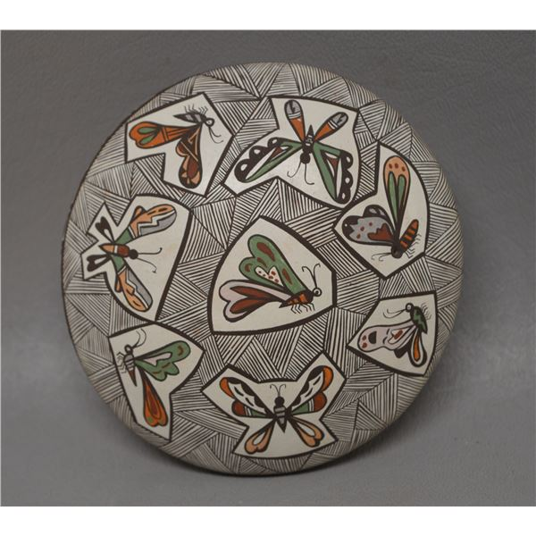 NATIVE AMERICAN ACOMA POTTERY SEED JAR BY D LEWIS