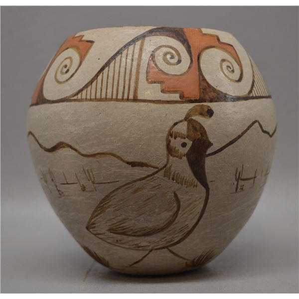 NATIVE AMERICAN PAPAGO POTTERY BOWL BY ANGEA