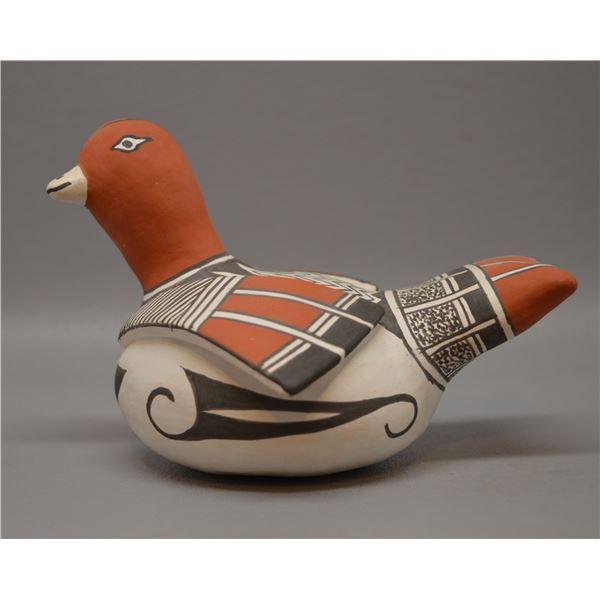 NATIVE AMERICAN ACOMA POTTERY BIRD BY ETHELS