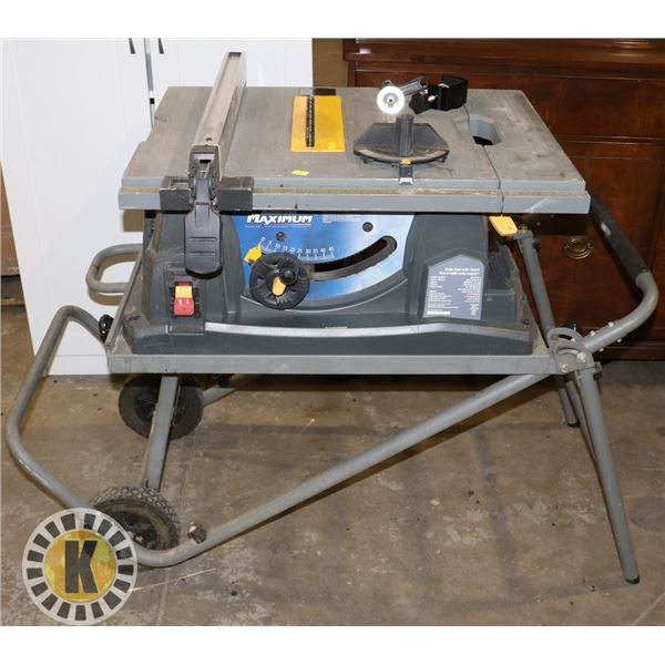"""MASTERCRAFT 10"""" TABLE SAW ON ROLLING STAND"""