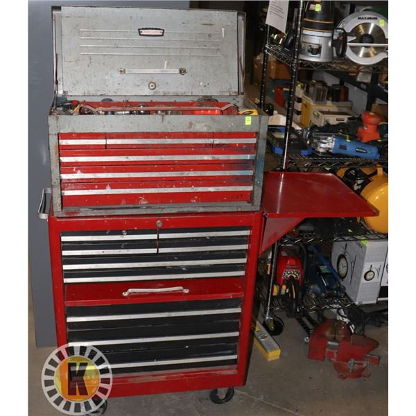 CRAFTSMAN ROLLING TOOL CHEST WITH TOOL BOX