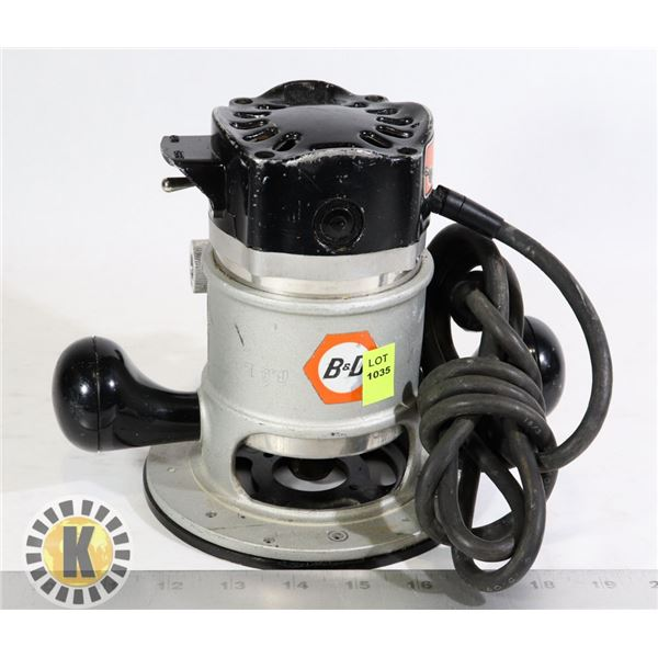 BLACK AND DECKER H.P ROUTER MOTOR