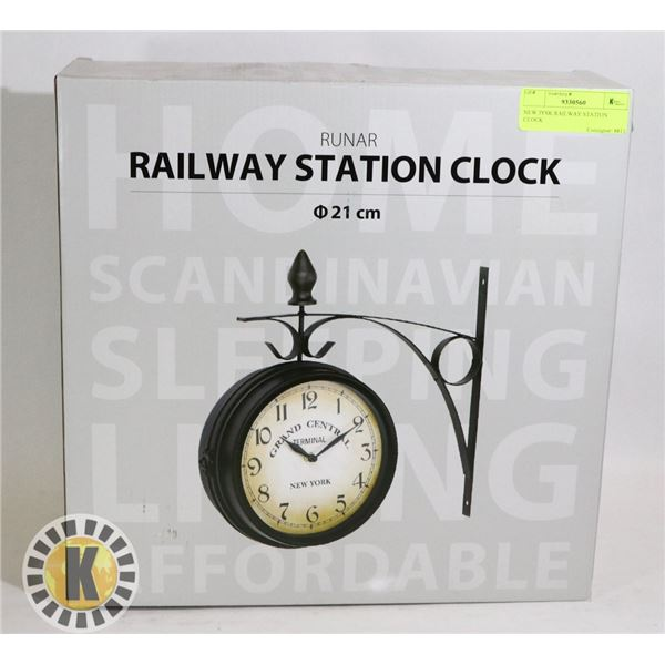 NEW JYSK RAILWAY STATION CLOCK