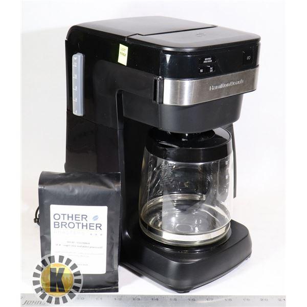 ESTATE HAMILTON BEACH COFFEE MACHINE & BAG OF COFFEE
