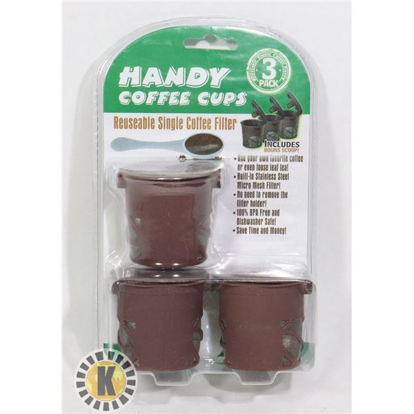 NEW 3PACK HANDY COFFEE CUPS SET