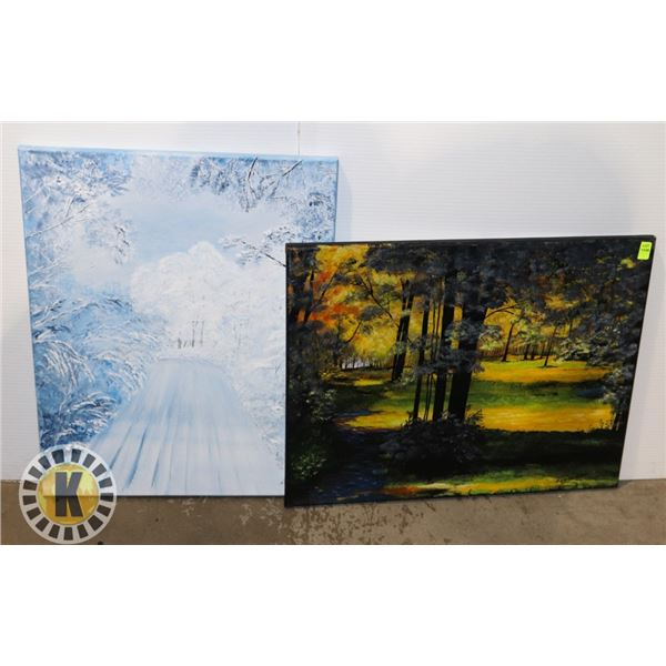 2 NATURE PAINTING PICTURES