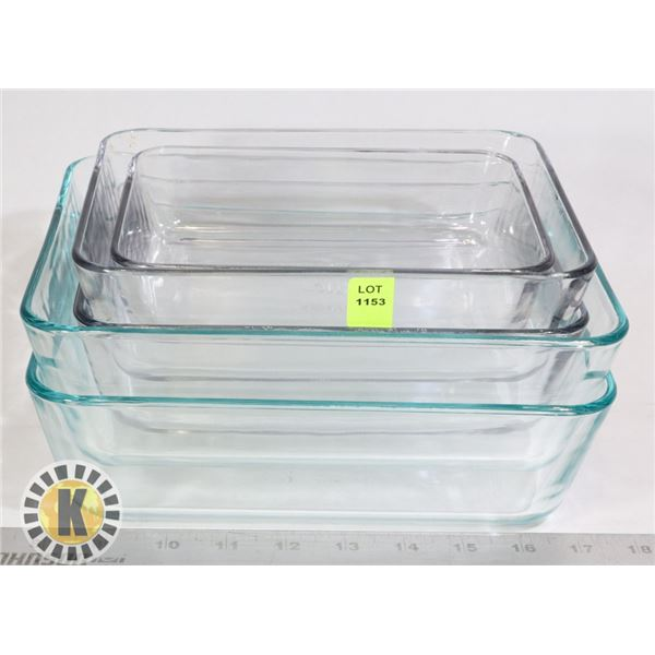 ESTATE PYREX GLASS BOWLS