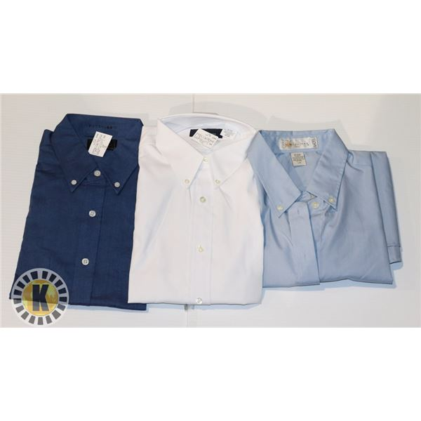 DRESS LADIES SHIRTS 3 IN A BAG ASSORTED LARGE