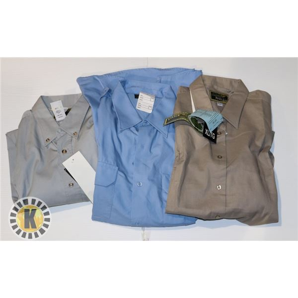 DRESS MENS SHIRTS LARGE 3 IN A BAG ASSORTED XL