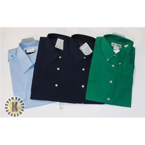 DRESS MENS SHIRTS LARGE 3 IN A BAG ASSORTED
