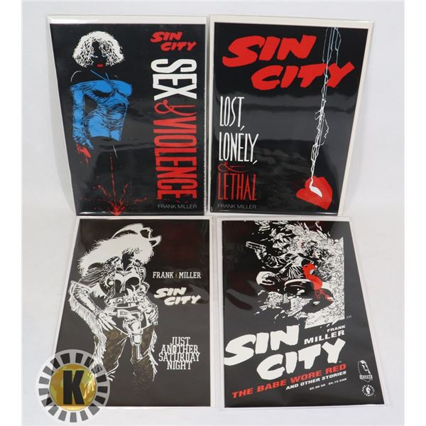 LOT OF 4 SIN CITY COMICS