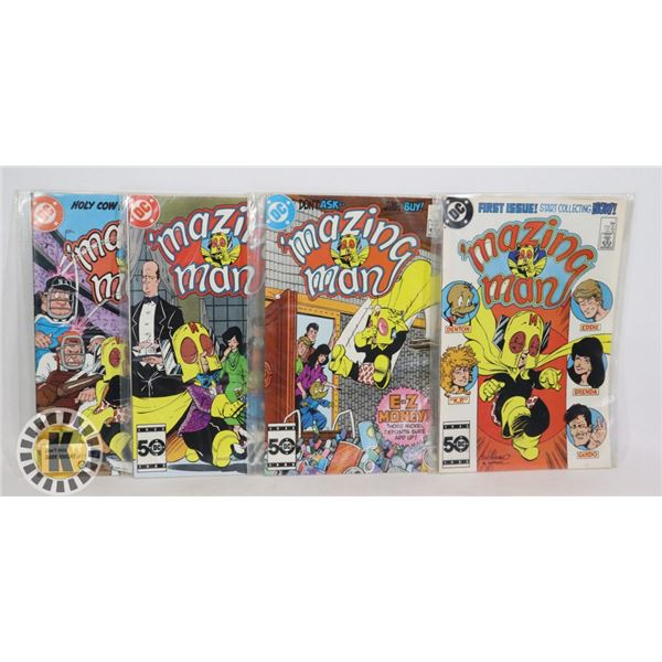 DC COMICS 'MAZING MAN #1,2,3,6