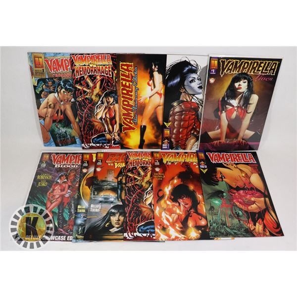 LOT OF 11 VAMPIRELLA #1 ISSUE COMICS