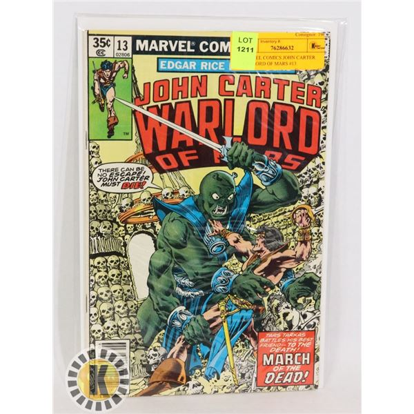 MARVEL COMICS JOHN CARTER WARLORD OF MARS #13