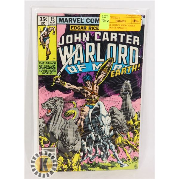 MARVEL COMICS JOHN CARTER WARLORD OF MARS #15