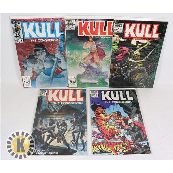 MARVEL COMICS KULL 5 ISSUES INCLUDING #1