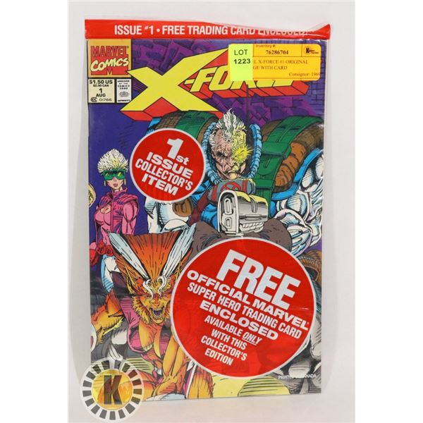 MARVEL X-FORCE #1 ORIGINAL PACKAGE WITH CARD