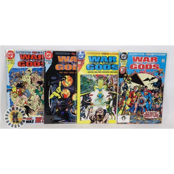 1991 DC COMICS WAR OF THE GODS #1-4