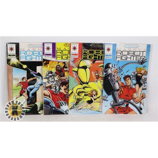 VALIANT COMICS ROBOT FIGHTER ISSUES #1-4
