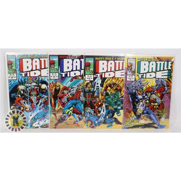 MARVEL COMICS BATTLE TIDE FULL SET #1-4