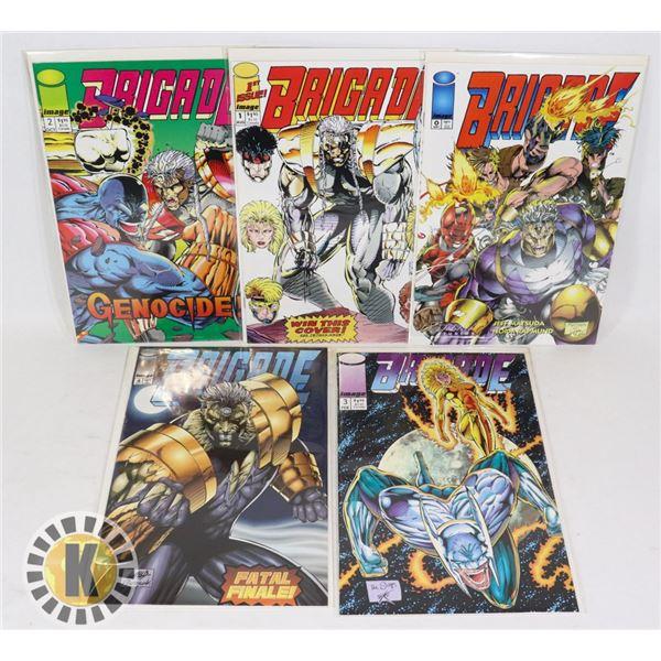 IMAGE COMICS BRIGADE ISSUES #0-4