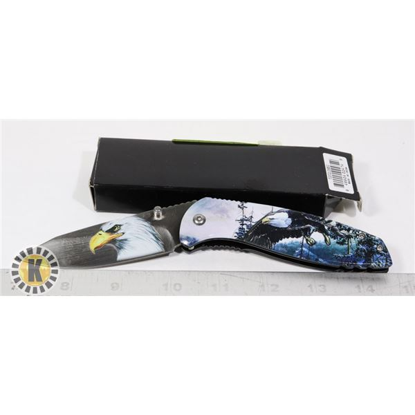 NEW EAGLE THEMED FOLDING KNIFE