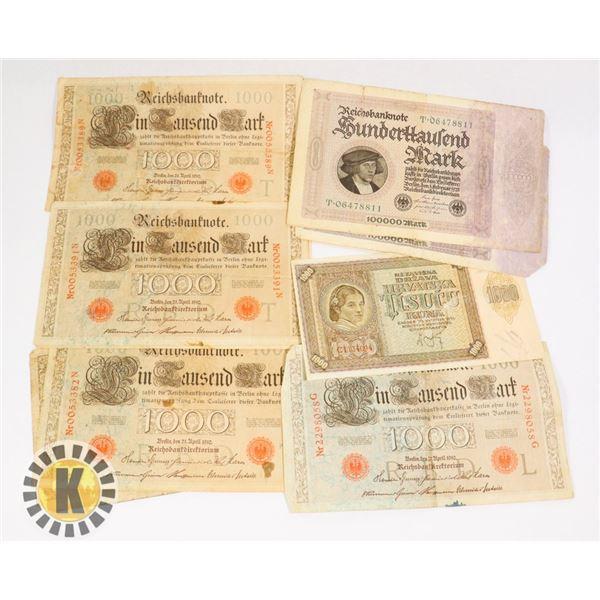 10 LARGE BANKNOTES