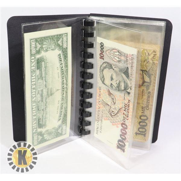 1 10 BANKNOTE FOLDER 9 INTERNATIONAL BANKNOTES 1 F