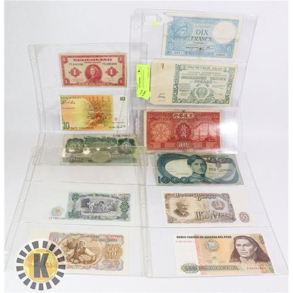 11 INTERNATIONAL BANKNOTES