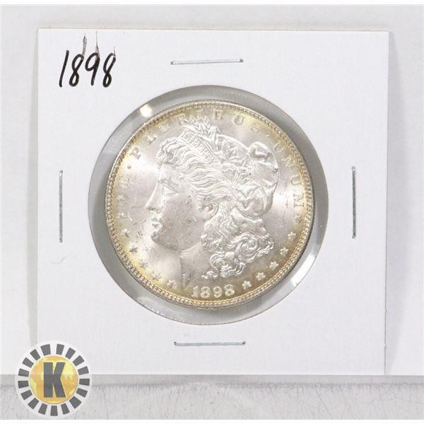 1898 SILVER USA HIGH GRADE MORGAN $1 DOLLAR COIN