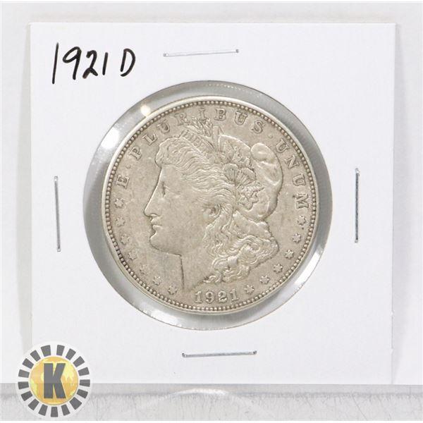 1921 D SILVER USA MORGAN $1 DOLLAR COIN