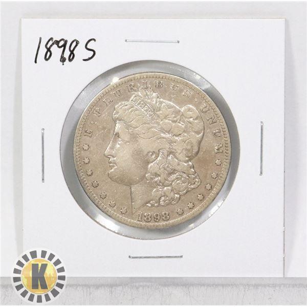 1898 S SILVER USA MORGAN $1 DOLLAR COIN