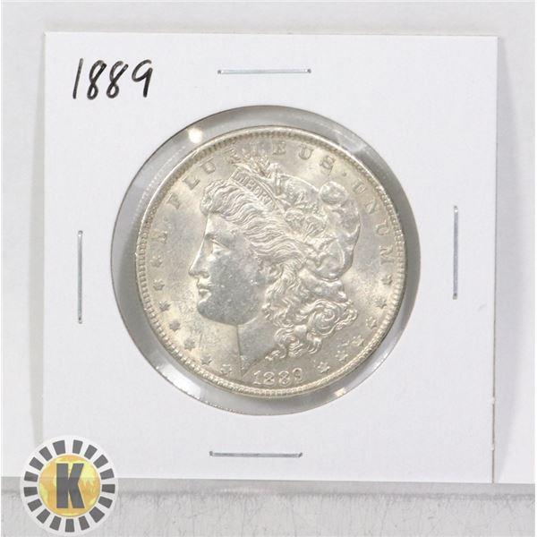 1889 SILVER USA MORGAN $1 DOLLAR COIN