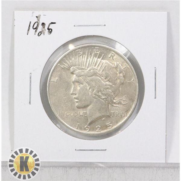 1925 SILVER USA PEACE $1 DOLLAR COIN