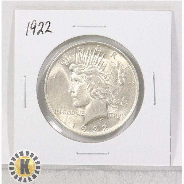 1922 SILVER USA PEACE $1 DOLLAR COIN