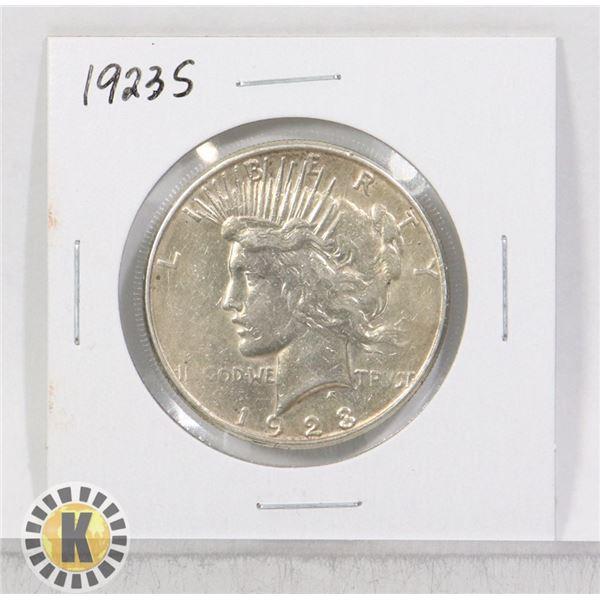 1923 S SILVER USA PEACE $1 DOLLAR COIN