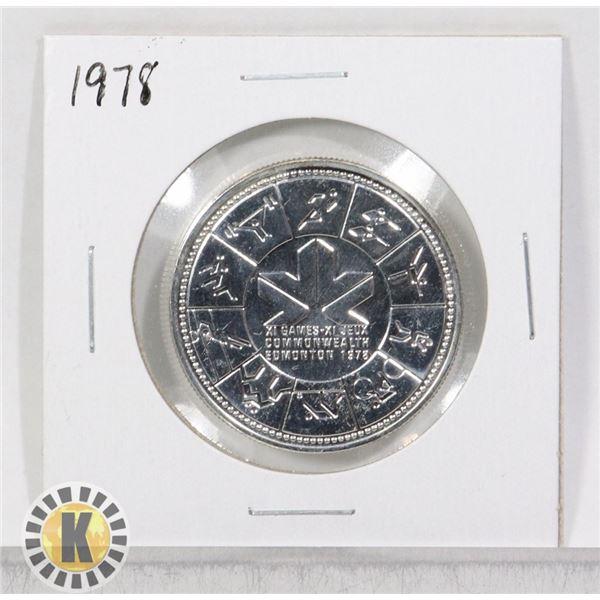1978 SILVER CANADA $1 DOLLAR COIN, SPECIMEN