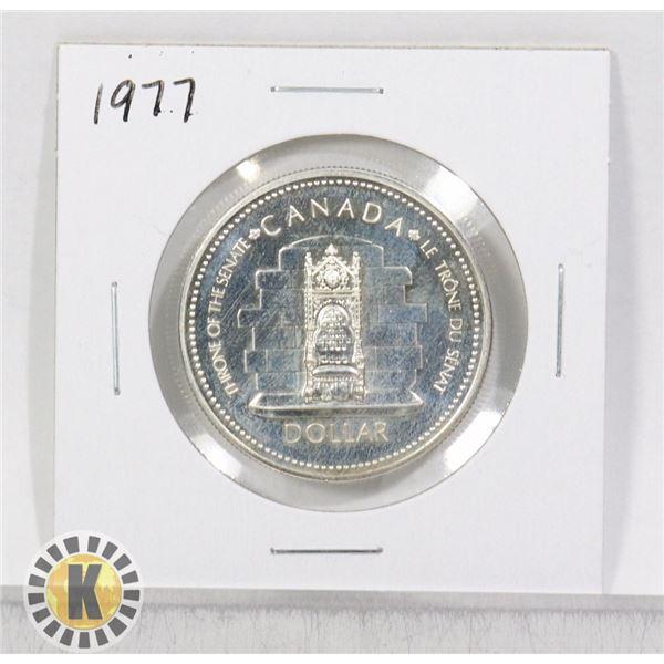 1977 SILVER CANADA $1 DOLLAR COIN, SPECIMEN