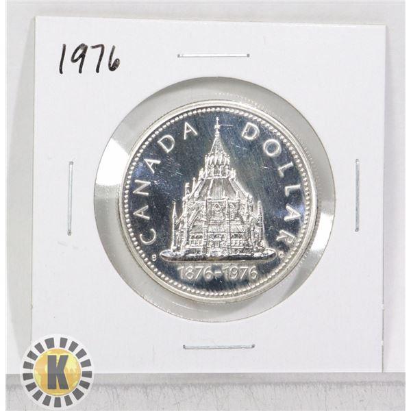 1976 SILVER CANADA $1 DOLLAR COIN, SPECIMEN