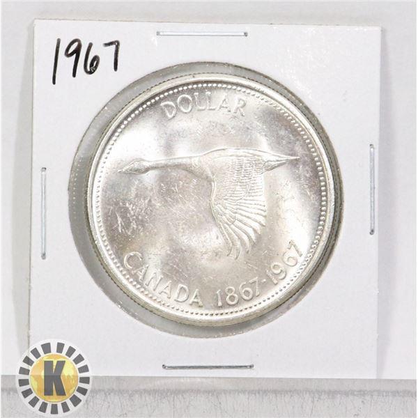 1867-1967 SILVER CANADA CENTENNIAL $1 DOLLAR COIN