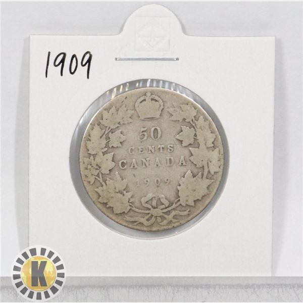 1911 SILVER CANADA 50 CENTS COIN