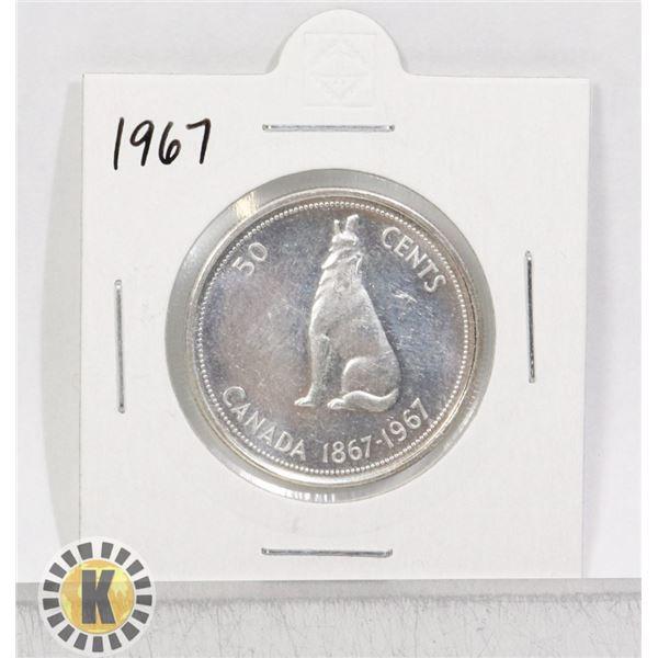 1967 SILVER CANADA 50 CENTS COIN
