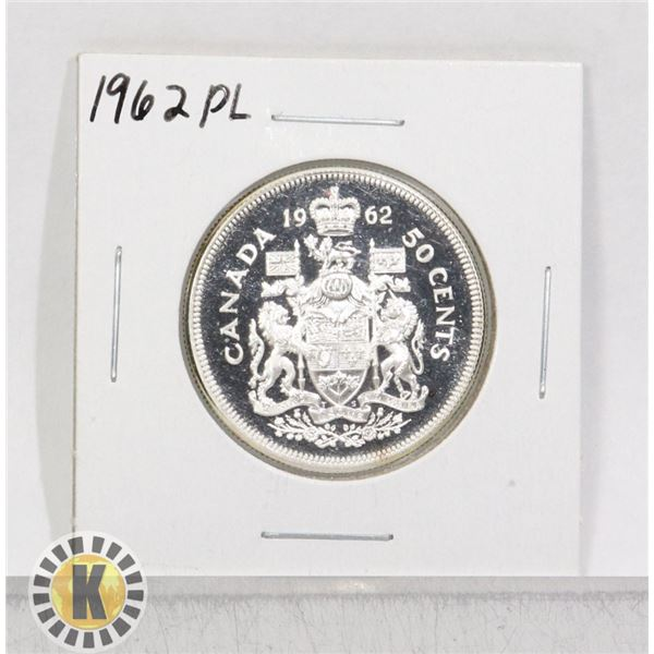 1962 SILVER CANADA 50 CENTS COIN, PROOF-LIKE