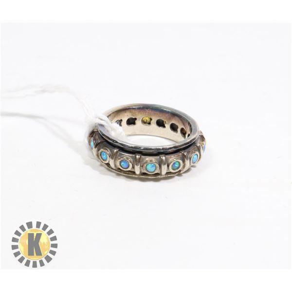 SPINNER RING -925 SILVER - NEW (82  )